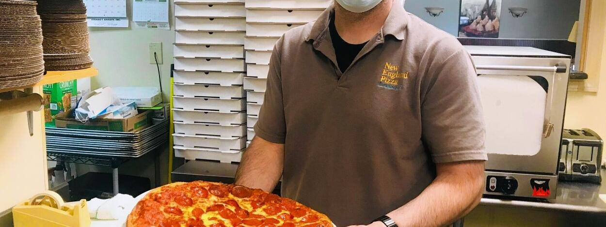 Mantle is passed at New England Pizza: Son takes over for father at Vernon institution