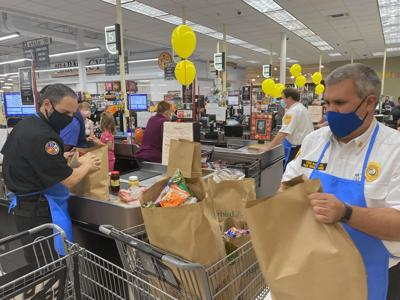 Bagging groceries for a cause