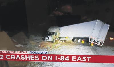 I-84 East Trailer Crash on Ch. 61