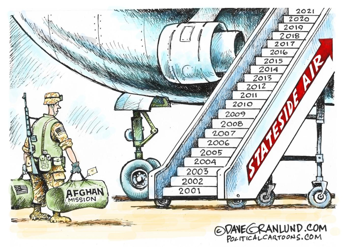 Infrastructure, police training, Biden, McConnell and more: A collection of editorial cartoons