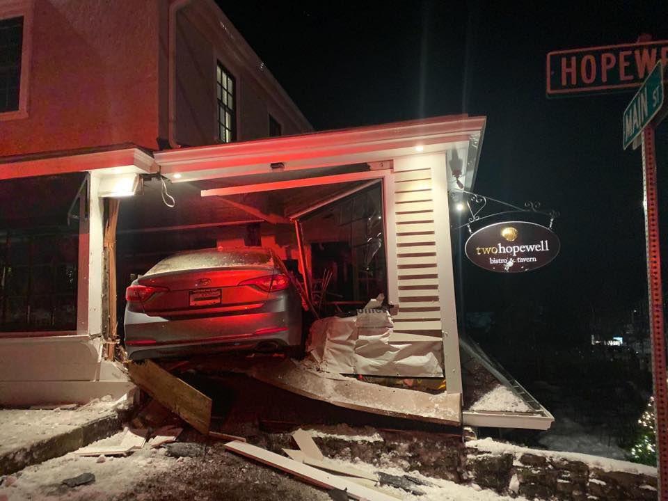 Car vs. restaurant