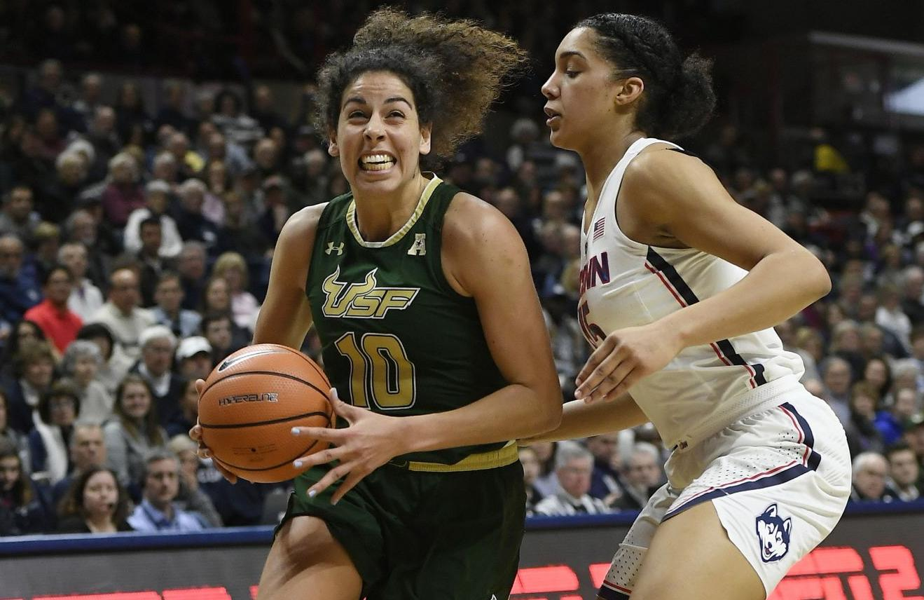 Auriemma happy to allow USF senior uncontested hoop