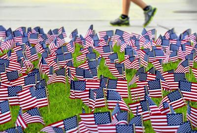 File: American flags