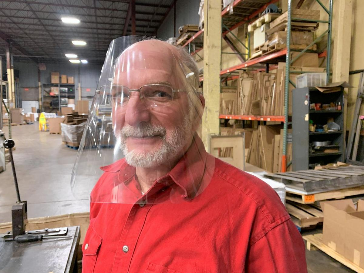 EH manufacturer makes face shields