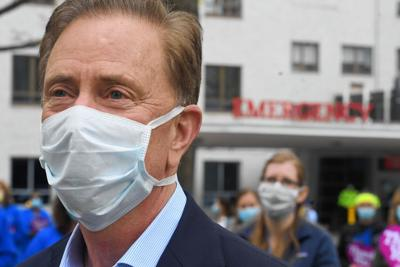 Gov. Ned Lamont in a mask