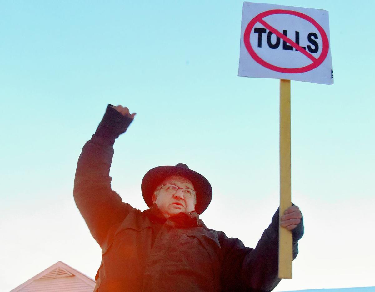 Toll protest