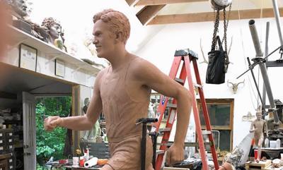 Runner's sculpture