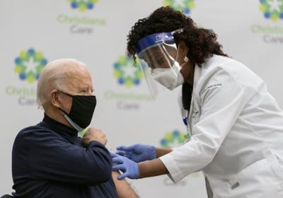 Biden gets vaccine