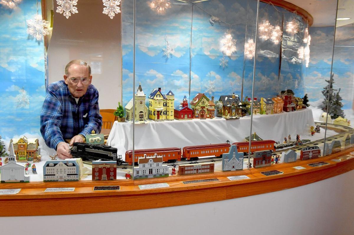 Stafford Public Library train display