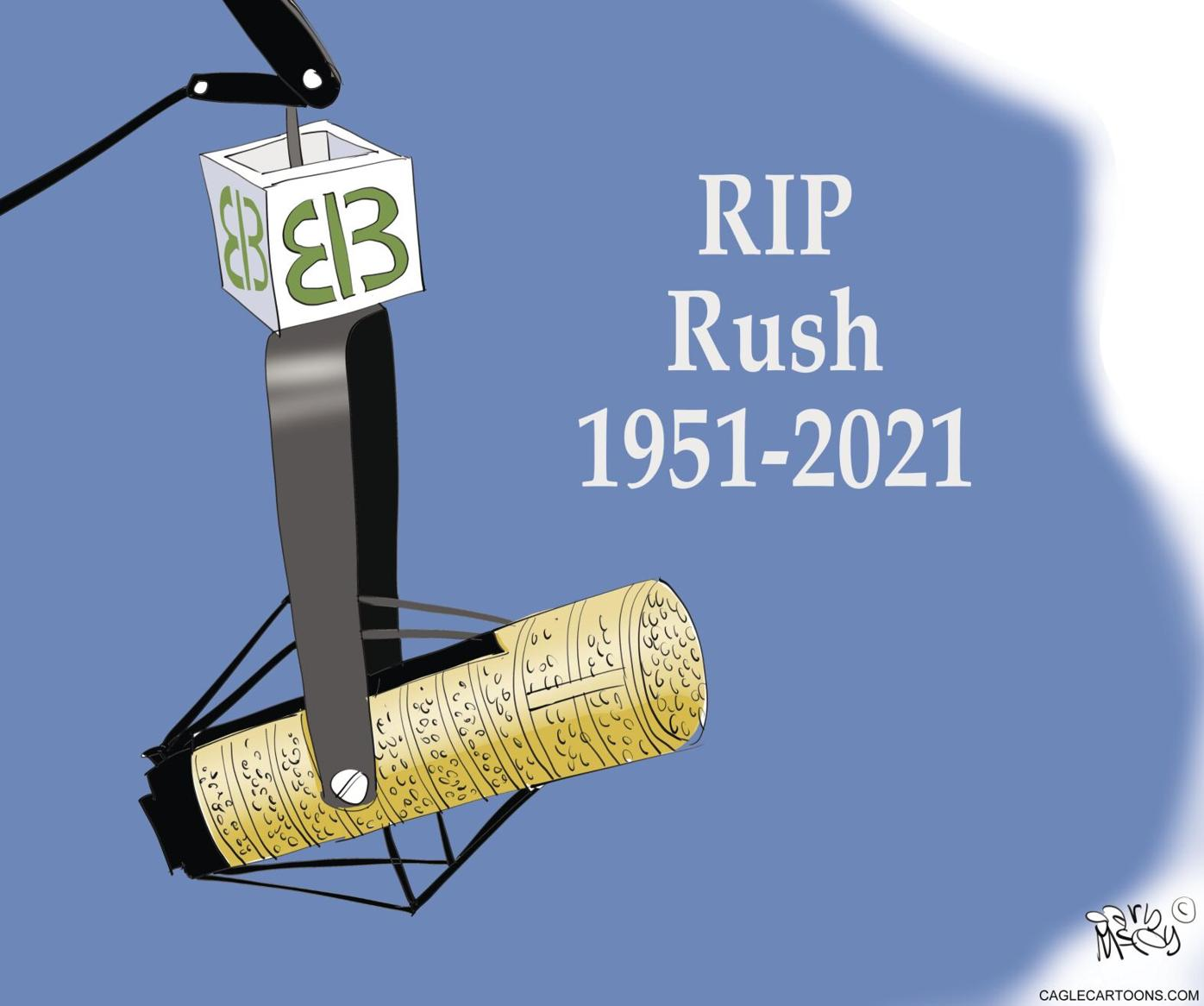 Rush through the years: A collection of editorial cartoons