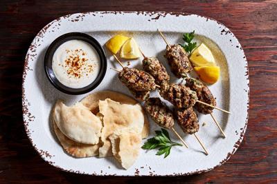 Turkey Kebabs with Tahini Sauce