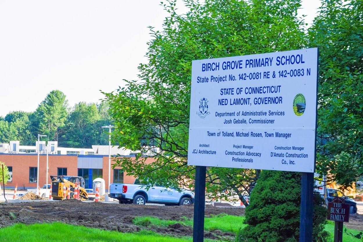 Birch Grove construction sign