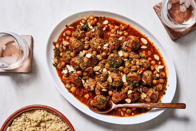 These chickpeas & meatballs go with anything!