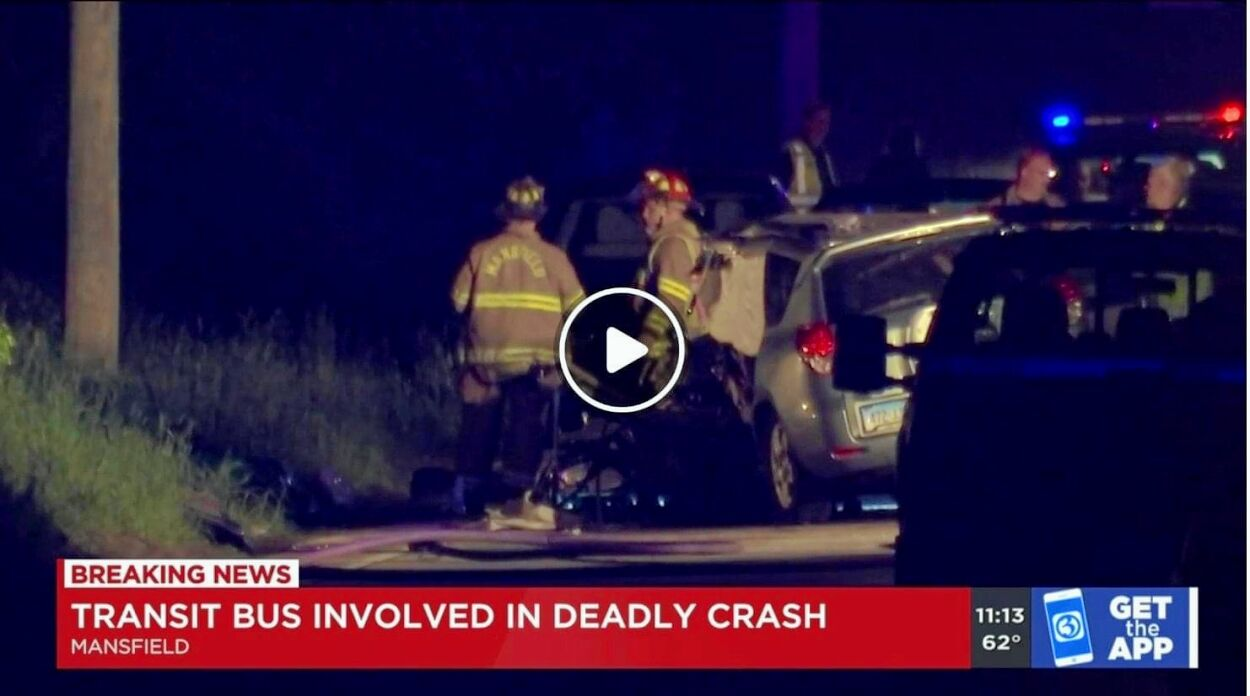 Leahy accident scene