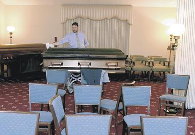 Sanitizing coffin