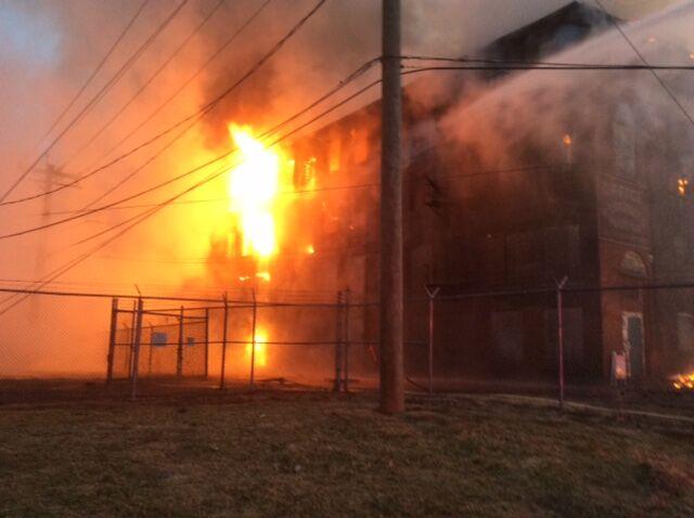 Fire in Enfield factory