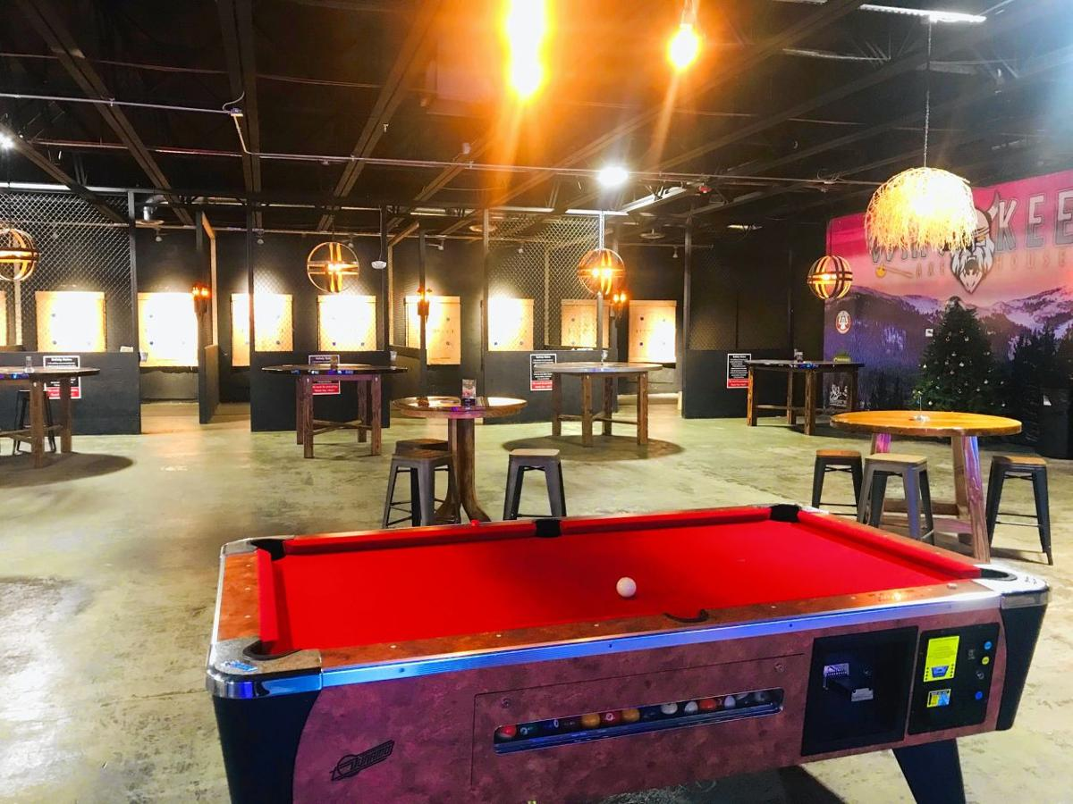 Axe-throwing bar is the pits — where it's meant to be