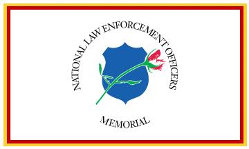 National Law Enforcement Officers Memorial flag