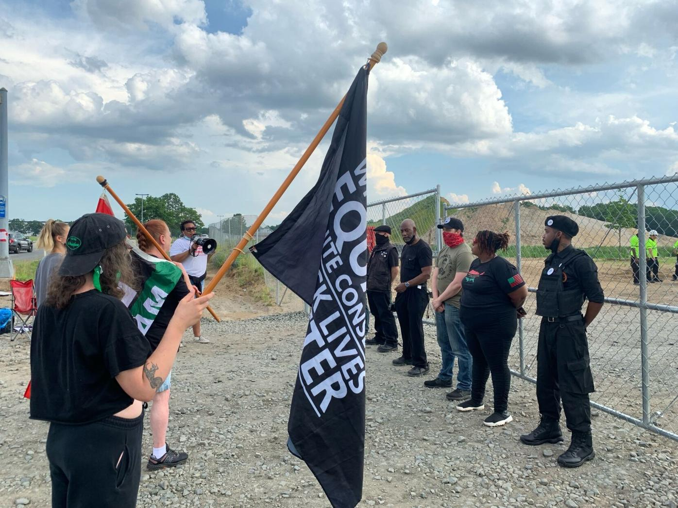 Protest at Windsor Amazon site