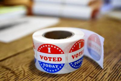 File 'I voted' stickers