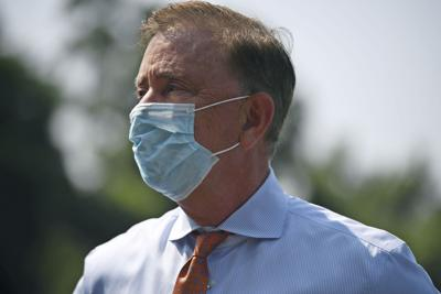 Lamont with mask