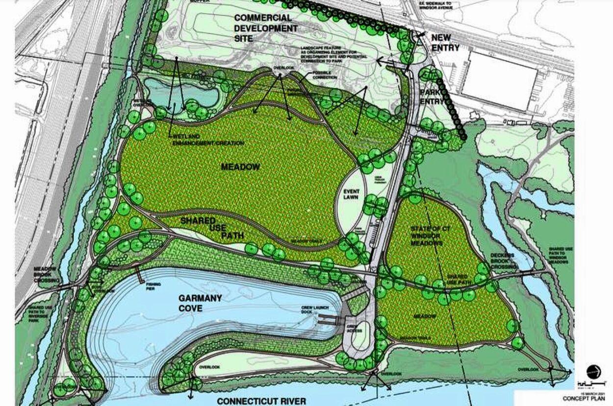 Conceptual plan for riverfront page