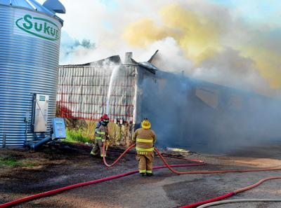 Fire destroys Somers barn