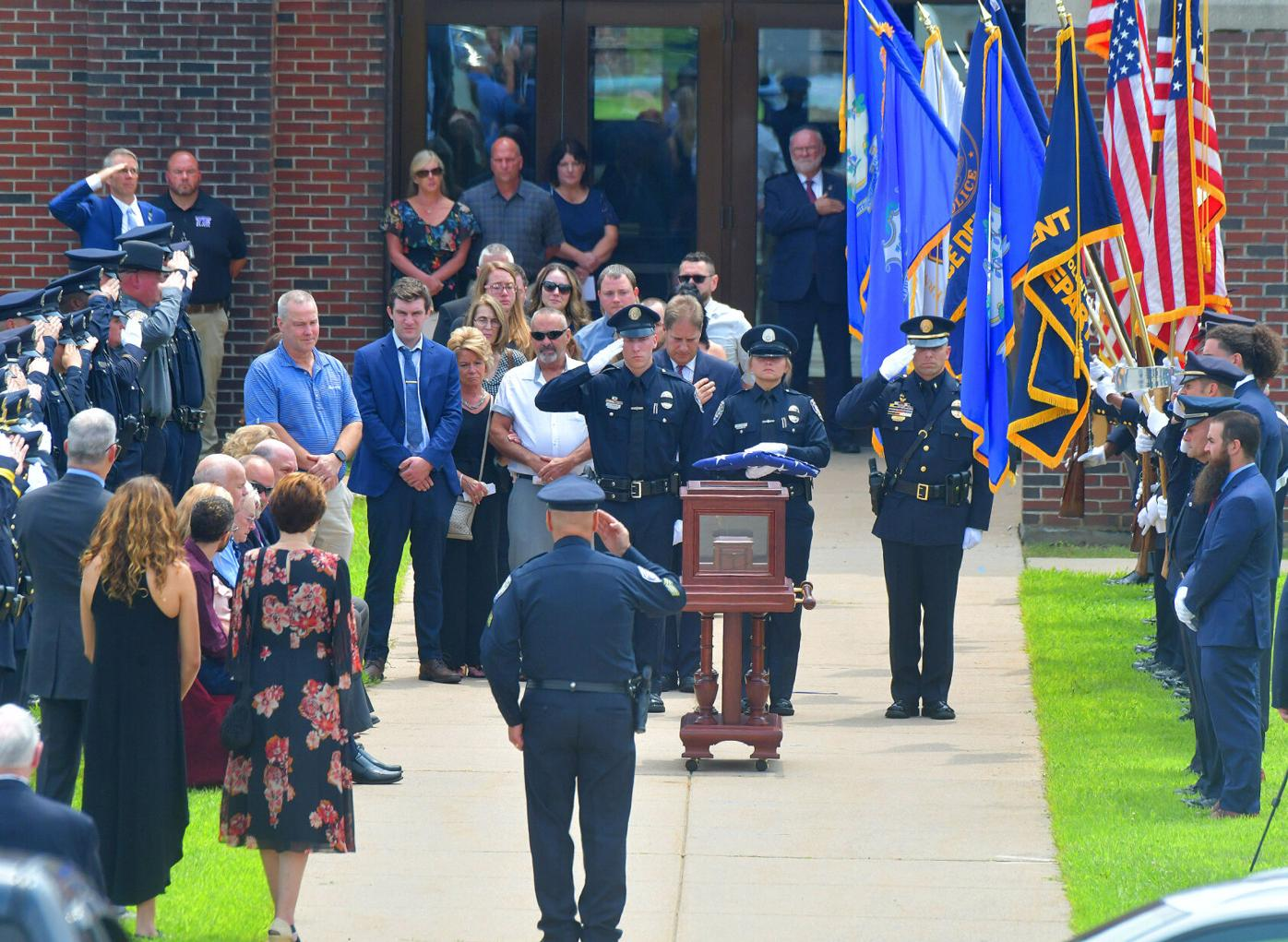 Officer's funeral
