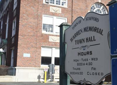 file Stafford Town Hall sign