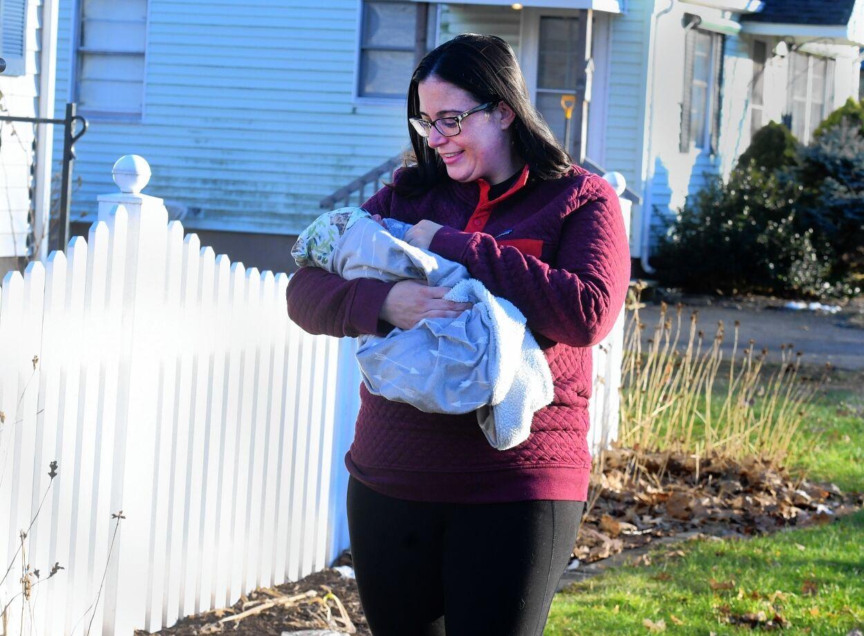 Carolyn Woodaman with newborn Wyatt