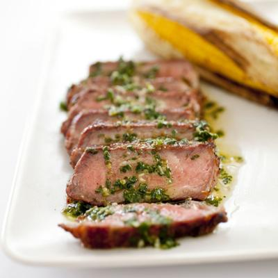 Argentine Steaks with Chimichurri Sauce