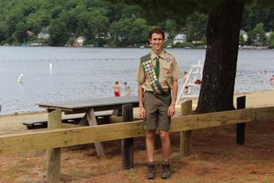 Teen's Eagle Scout project gives Crystal Lake parking lot a more beachy feel
