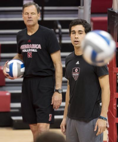 NCAA Volleyball Tournament practice, 11.29
