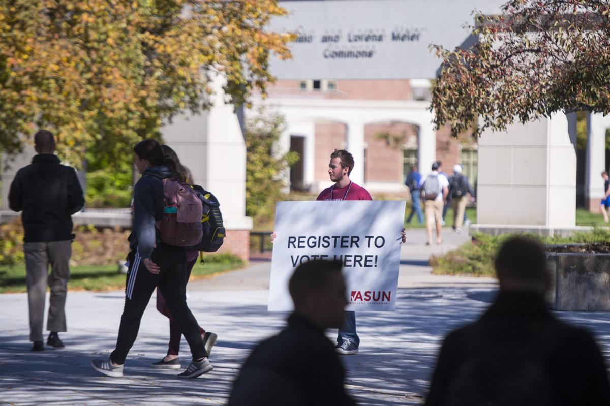 Student voting event, 10/18
