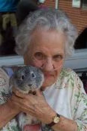 Resident holding animal