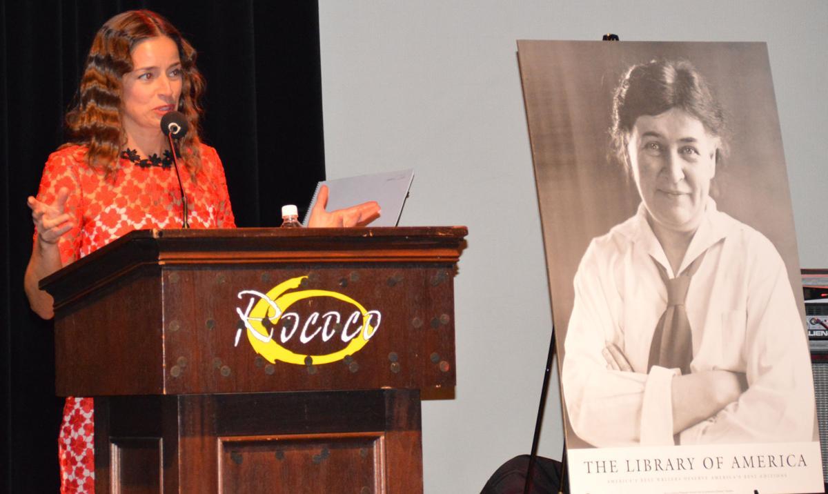 Julie Reager speaks at Around the World fundraiser for GIRLPowR