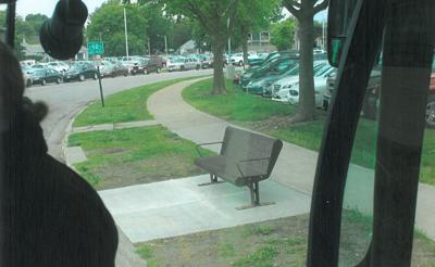 Bus bench by LHS