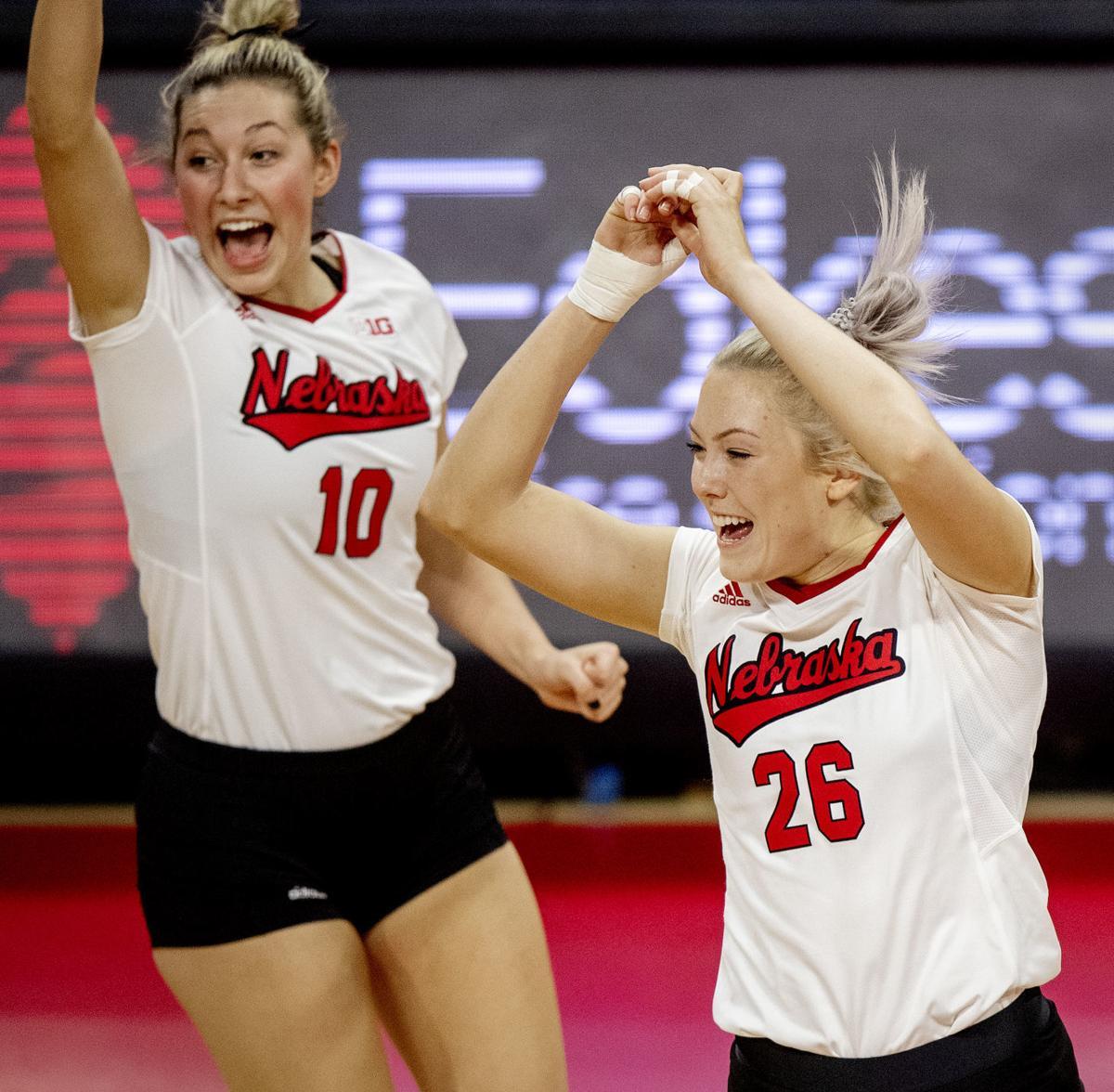 Nebraska volleyball vs. Northwestern, 11.6