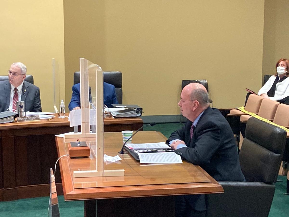 Frakes testifies at hearing