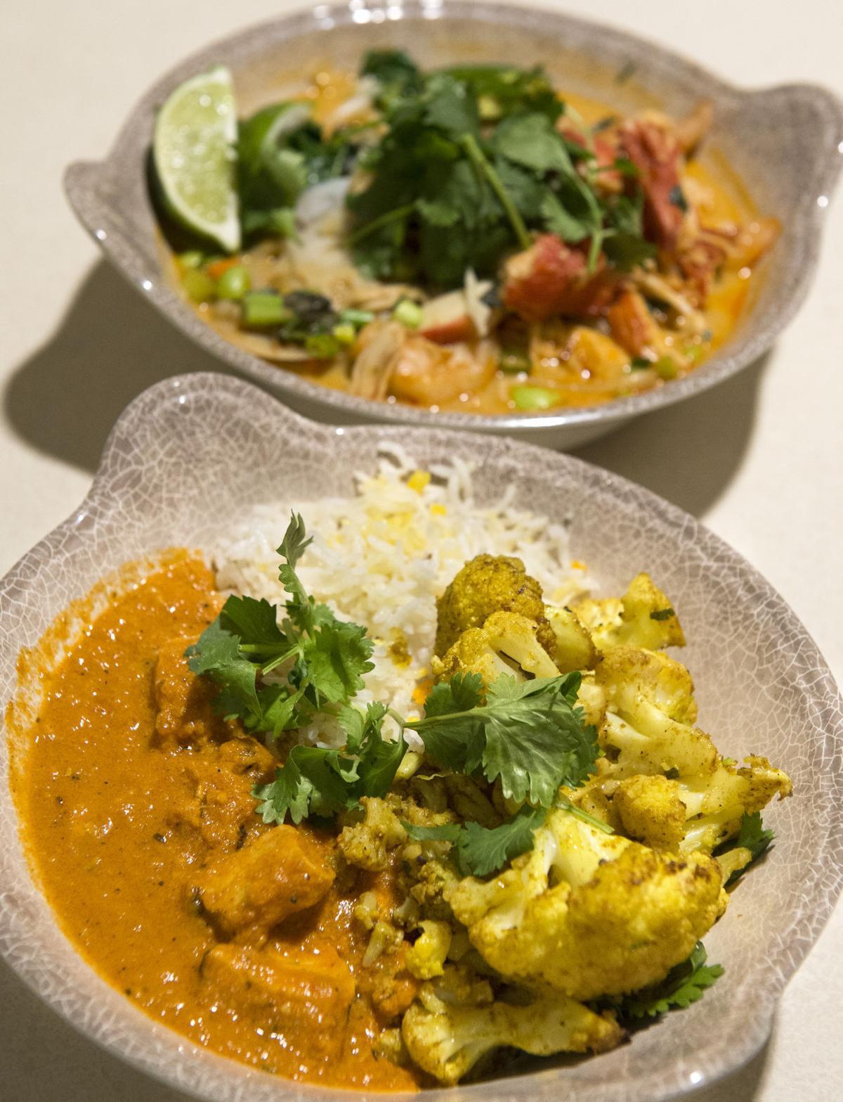 Indian food at Bryan East