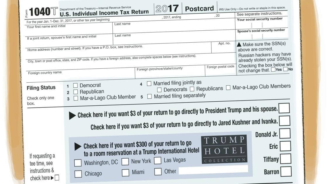 New Tax Forms Let You Give Directly To Trump And Co In Rj