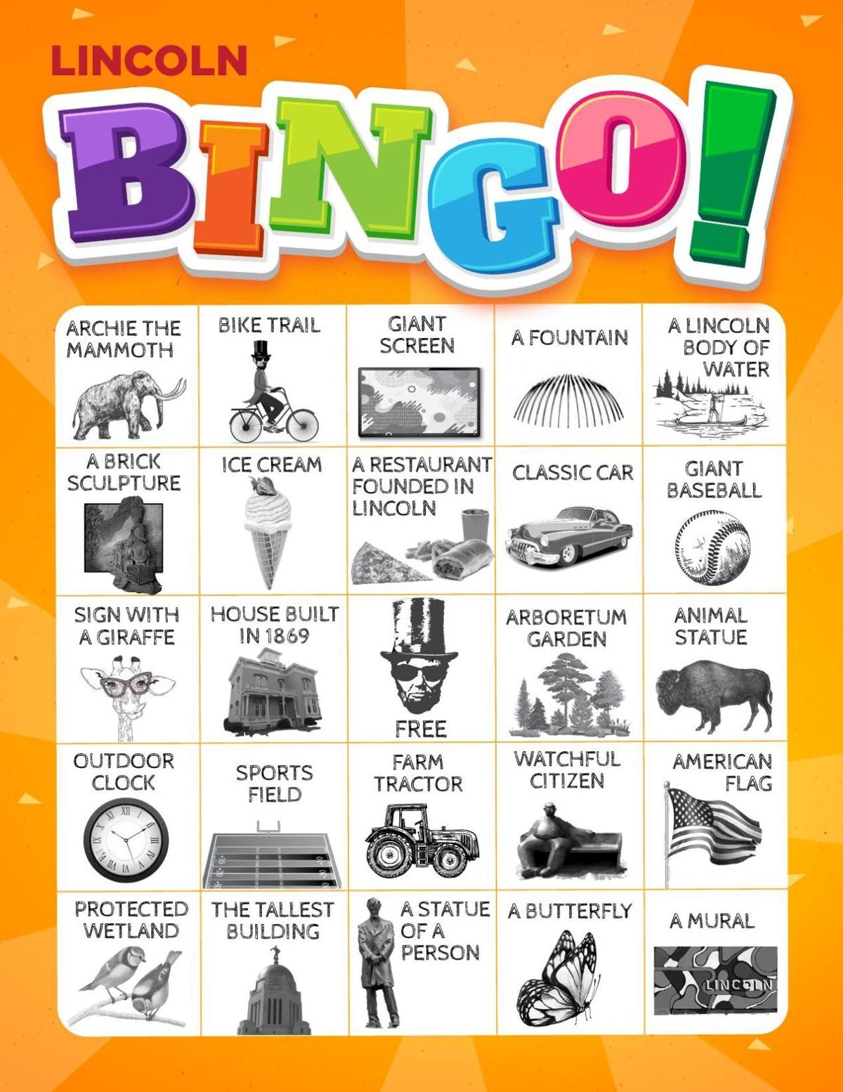 Lincoln Bingo Card