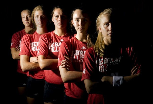 Nu Volleyball Team S Freshmen Face Steep Learning Curve