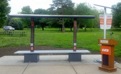 LES solar charging station