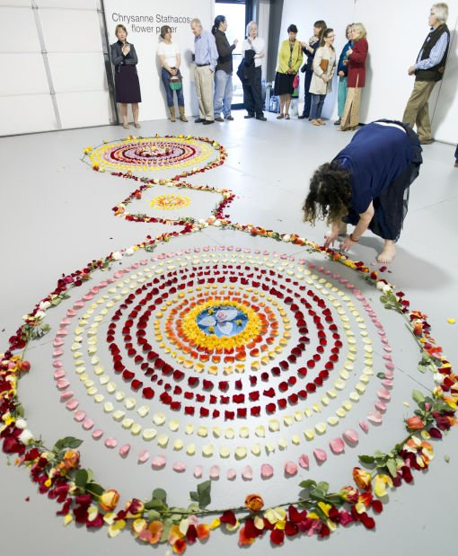 Flower Mandala Installation