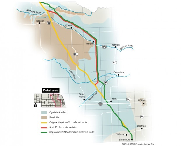 Submitted Keystone XL route