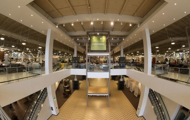 Nebraska furniture mart in texas redefines big box local for Furniture mart