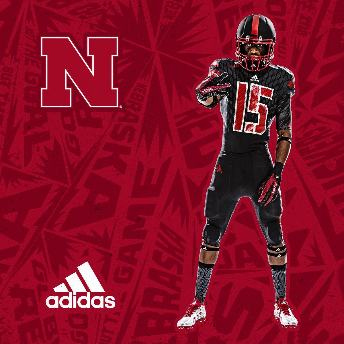 ae9bebb4f316 The University of Nebraska and adidas unveiled the new Primeknit Husker  Bold alternative football uniforms Thursday