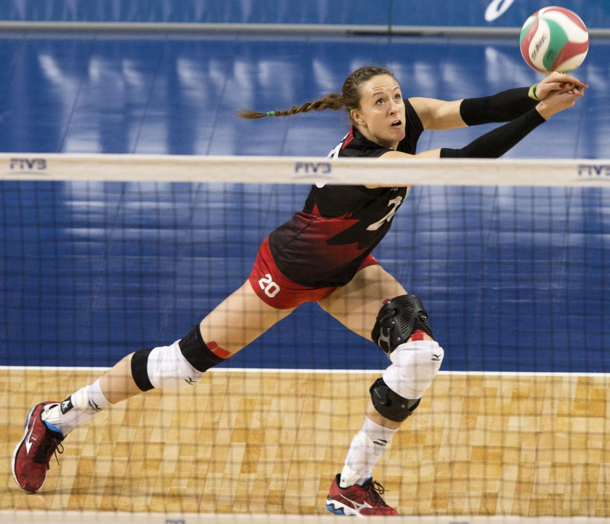 Photos: Canada vs  Dominican Republic, NORCECA volleyball