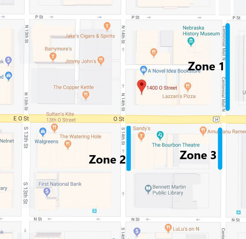 New rideshare zones 14th and O streets